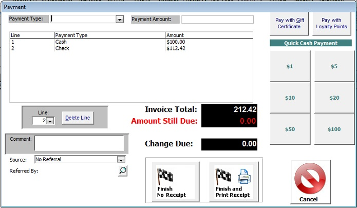 multi tender point of sale software