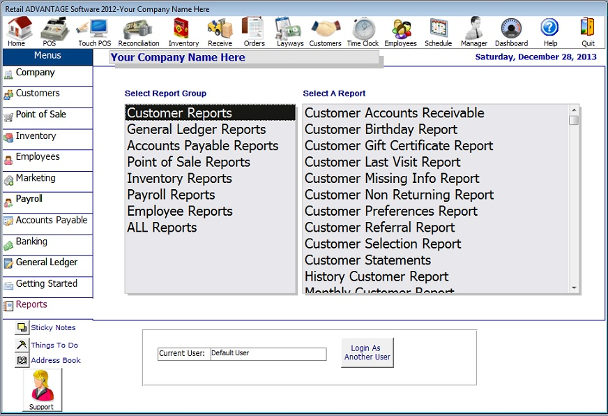 retail reports point of sale software