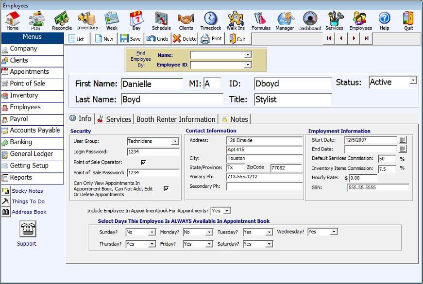 Employee Management Feature of Salon Software, Salon Management ...