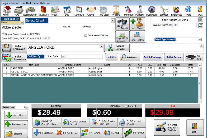 salon client software